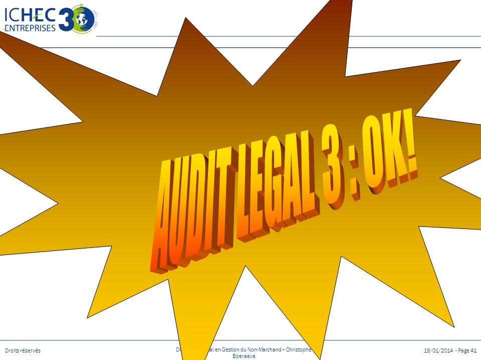 AUDIT LEGAL 3 : OK!