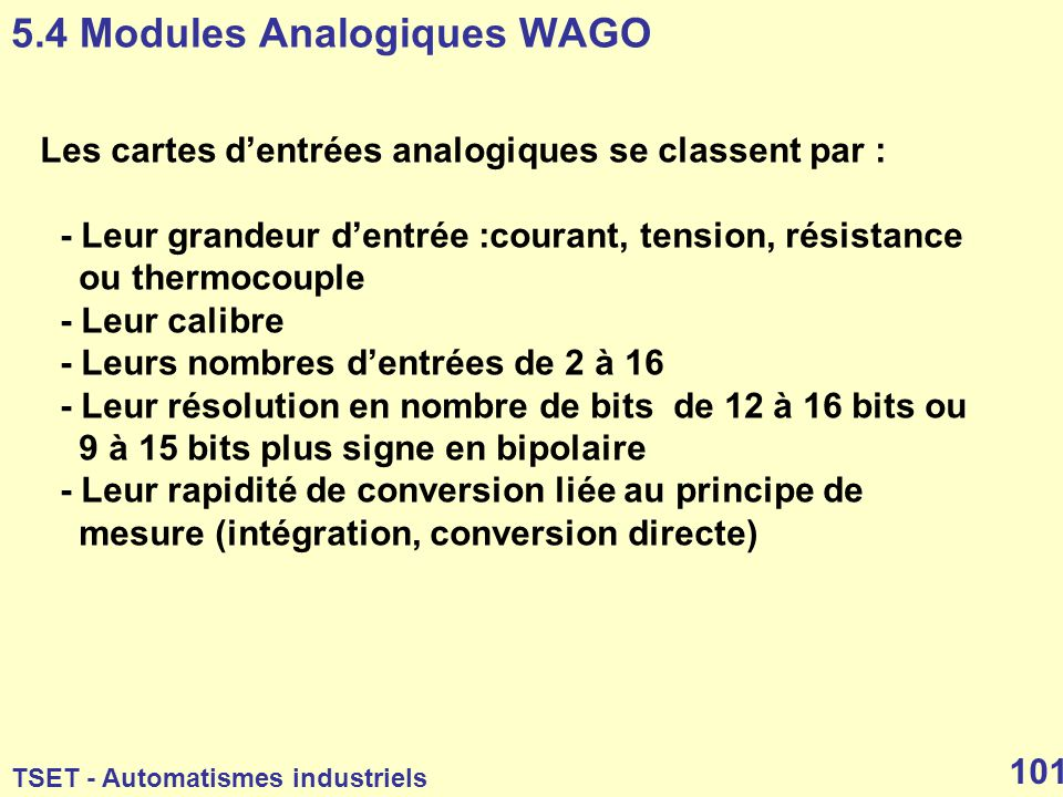 5.4 Modules Analogiques WAGO