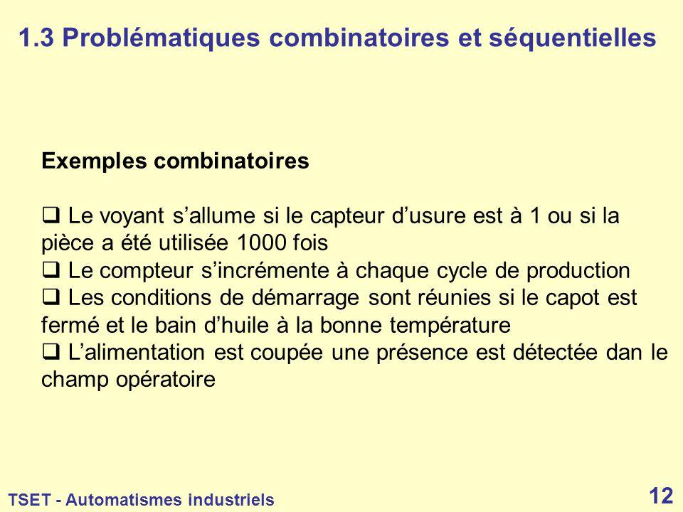 1.3 Problématiques combinatoires et séquentielles
