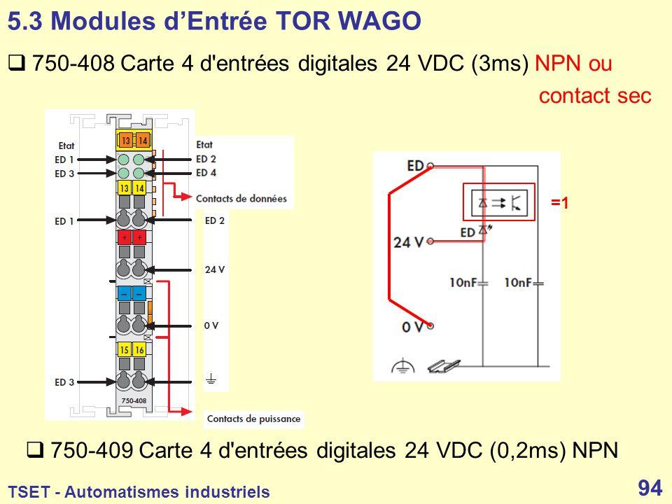 5.3 Modules d'Entrée TOR WAGO