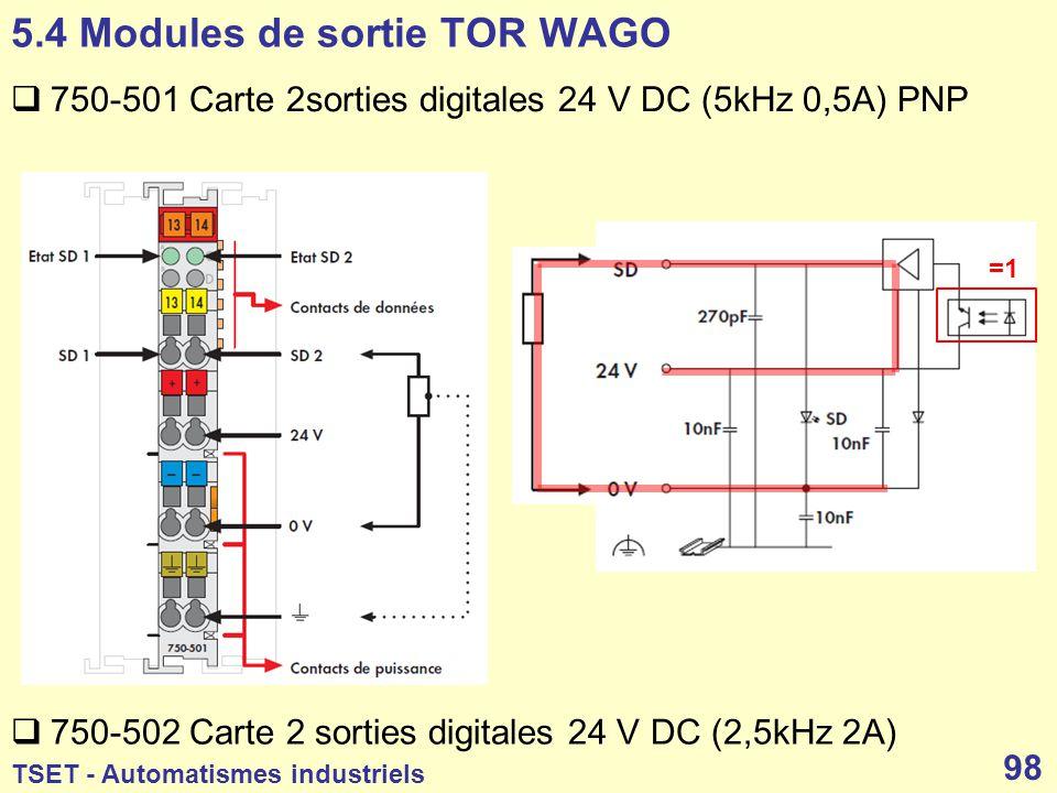 5.4 Modules de sortie TOR WAGO