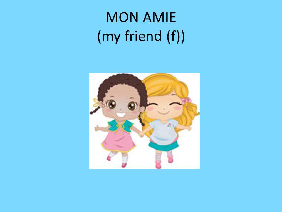 MON AMIE (my friend (f))