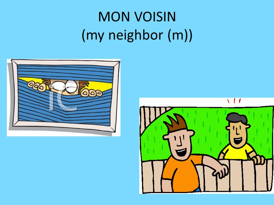 MON VOISIN (my neighbor (m))