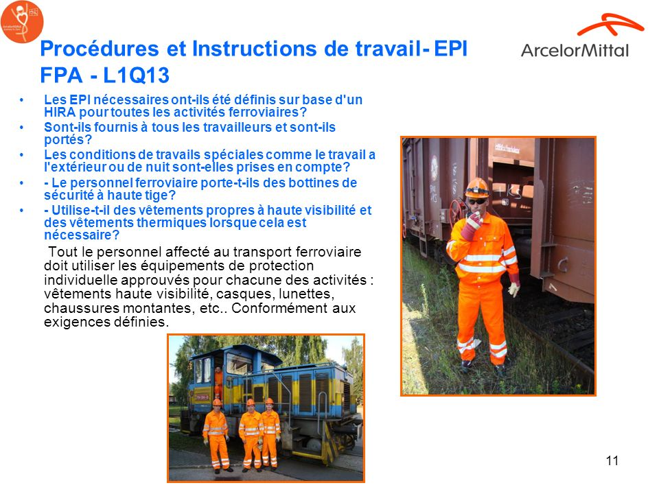 Procédures et Instructions de travail- EPI FPA - L1Q13