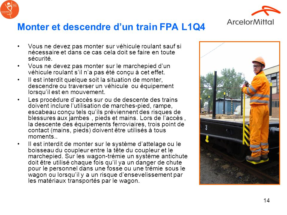Monter et descendre d'un train FPA L1Q4