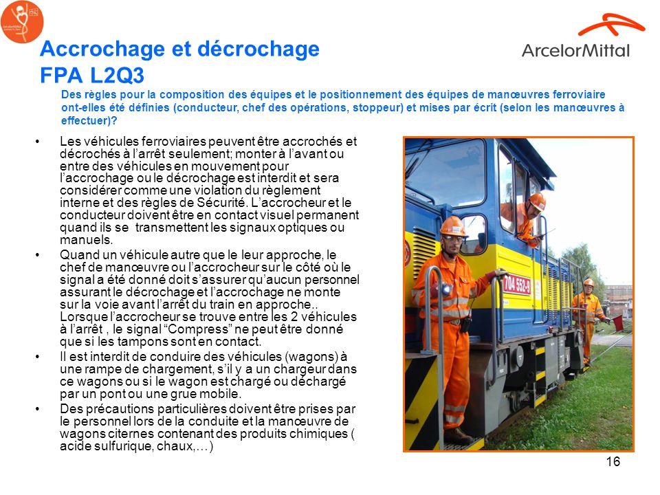 Accrochage et décrochage FPA L2Q3