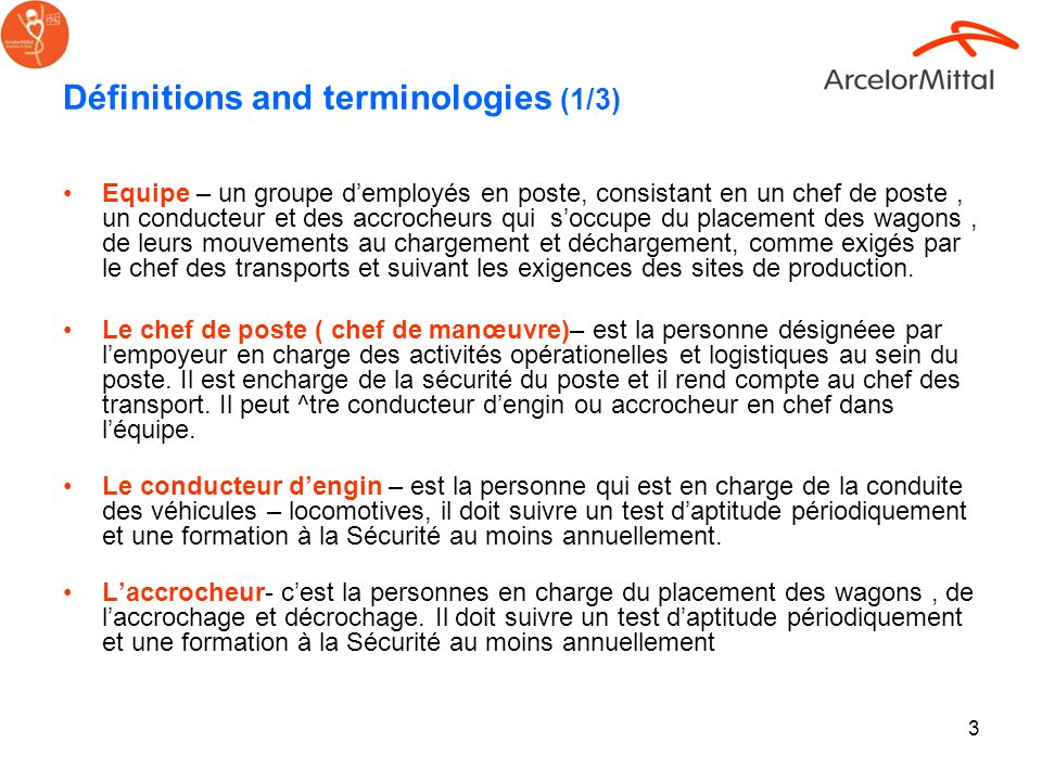 Définitions and terminologies (1/3)