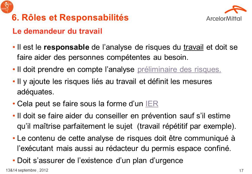 6. Rôles et Responsabilités