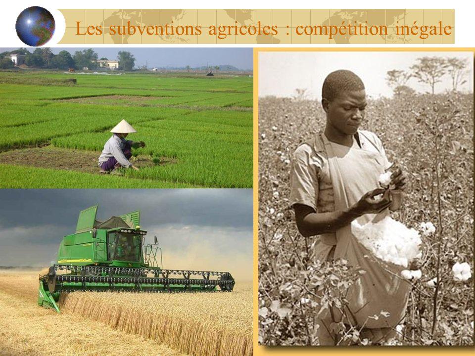 Les subventions agricoles : compétition inégale