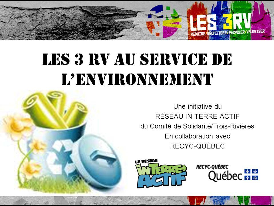 Les 3 RV au service de l'environnement