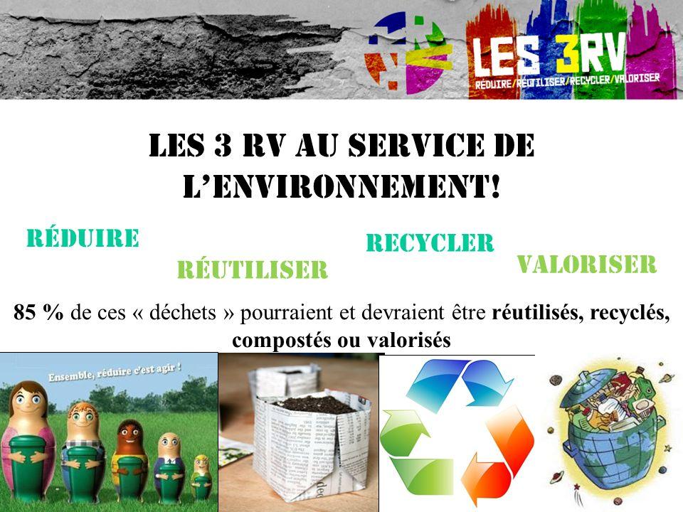 Les 3 RV au service de l'environnement!