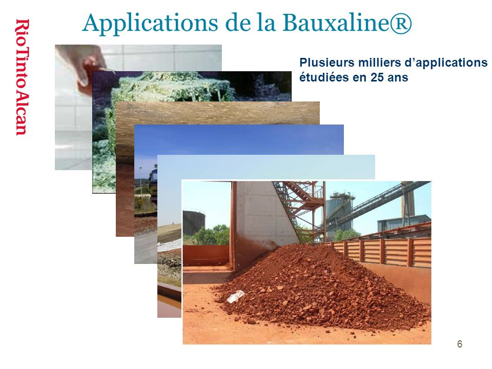 Applications de la Bauxaline®
