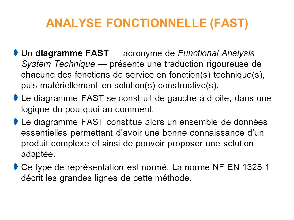 ANALYSE FONCTIONNELLE (FAST)