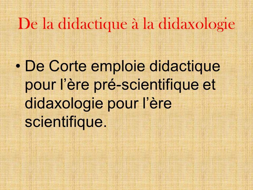 De la didactique à la didaxologie