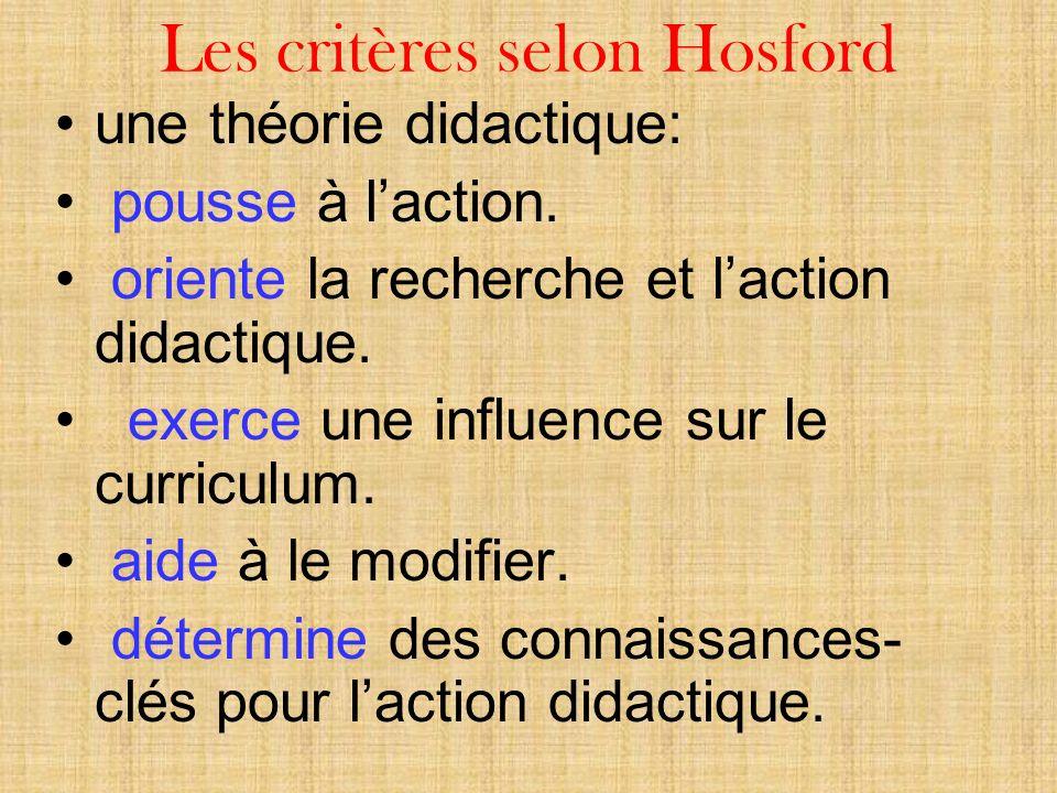 Les critères selon Hosford