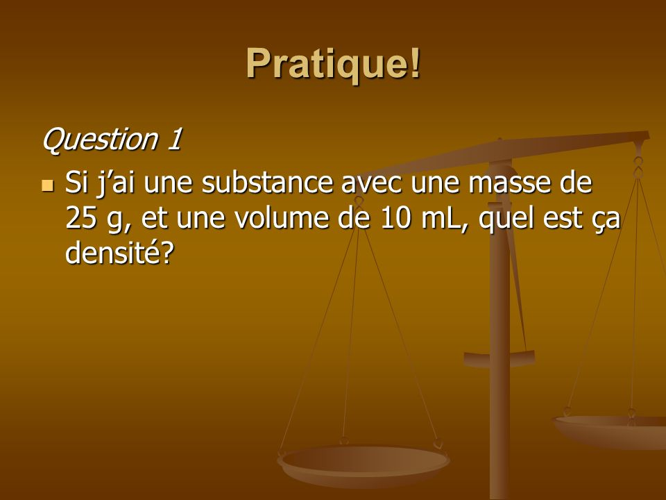 Pratique. Question 1.