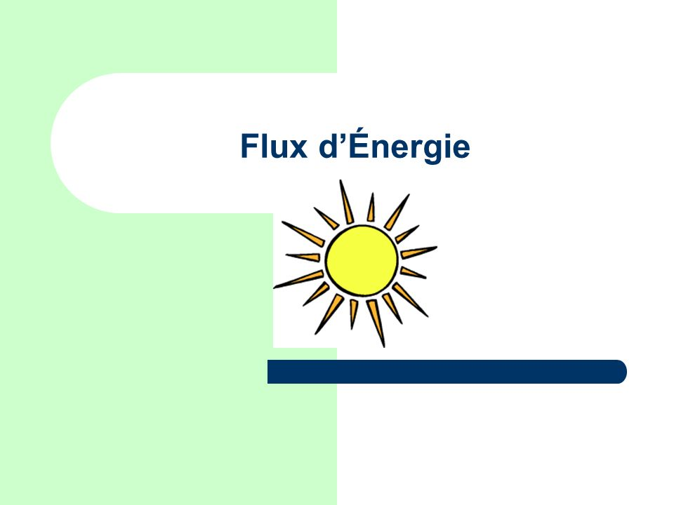 Flux d'Énergie Image from