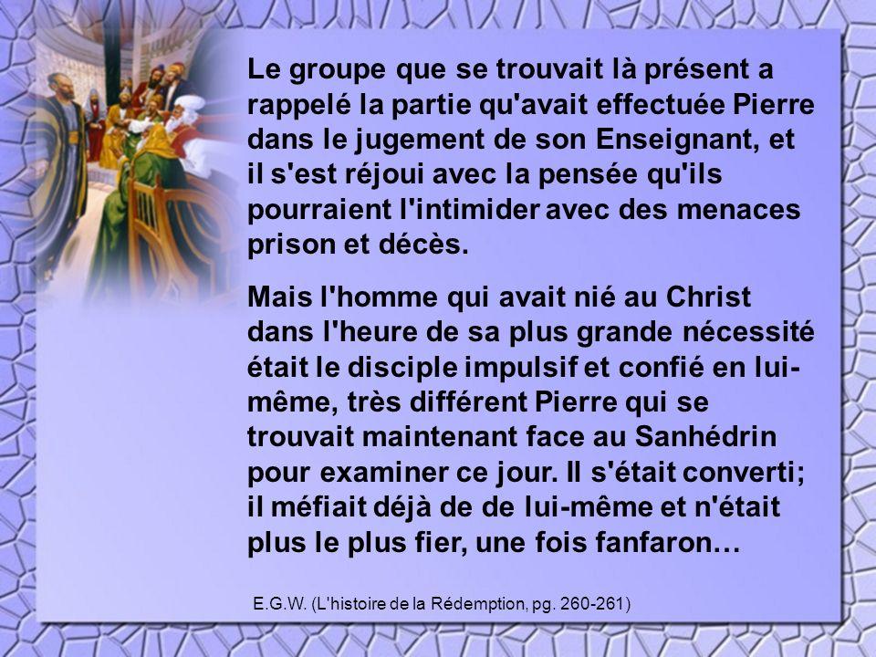 E.G.W. (L histoire de la Rédemption, pg. 260-261)
