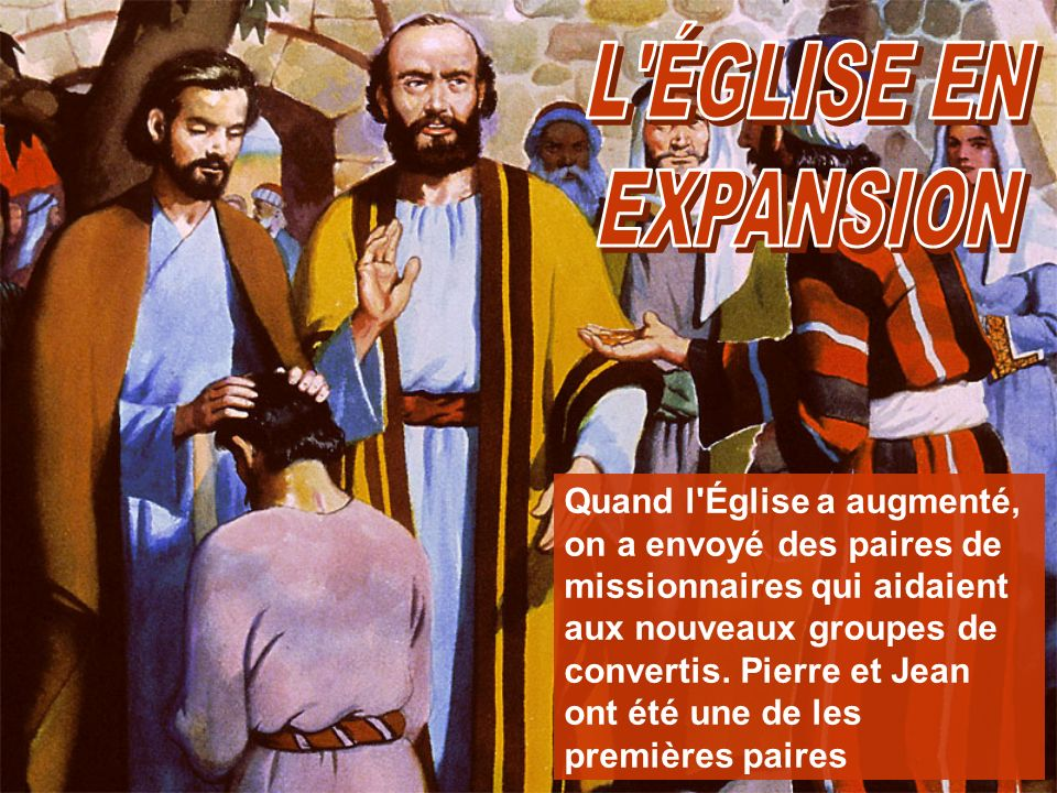 L ÉGLISE EN EXPANSION.