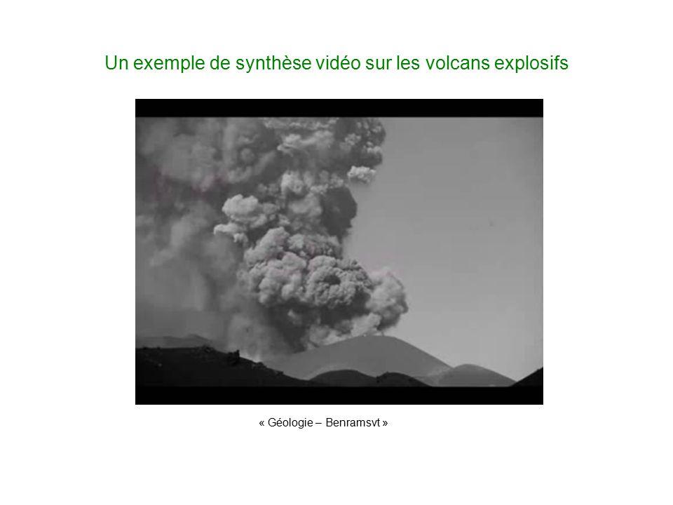Un exemple de synthèse vidéo sur les volcans explosifs