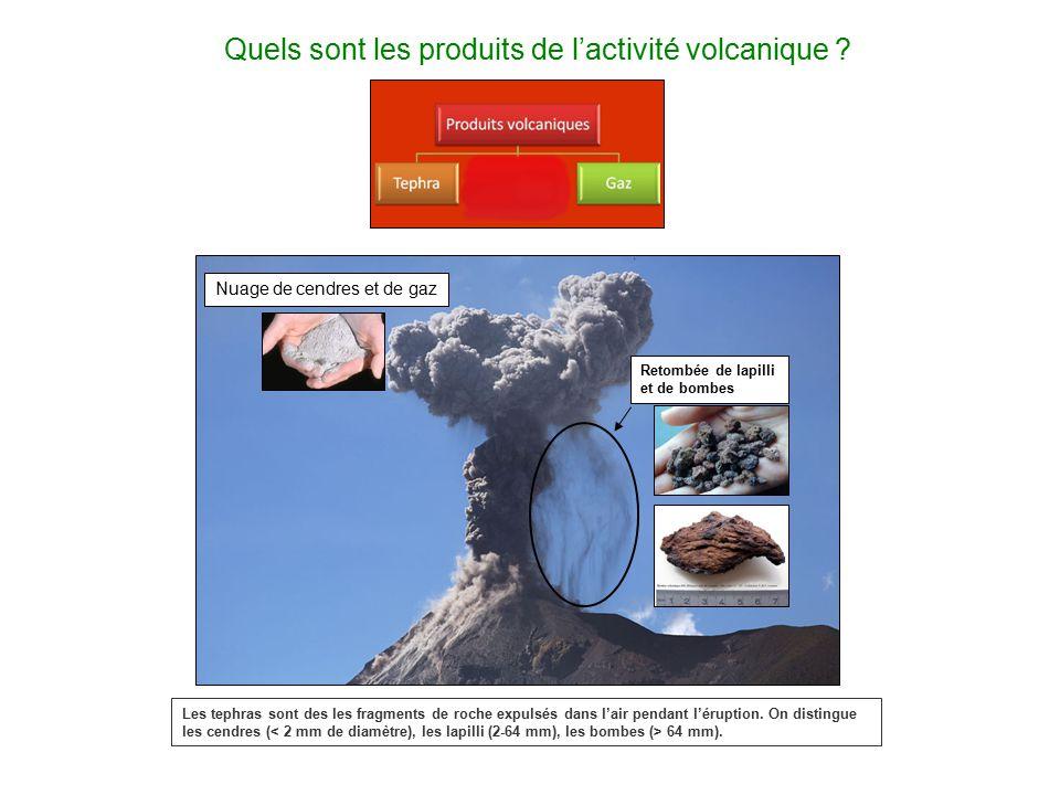 Quels sont les produits de l'activité volcanique