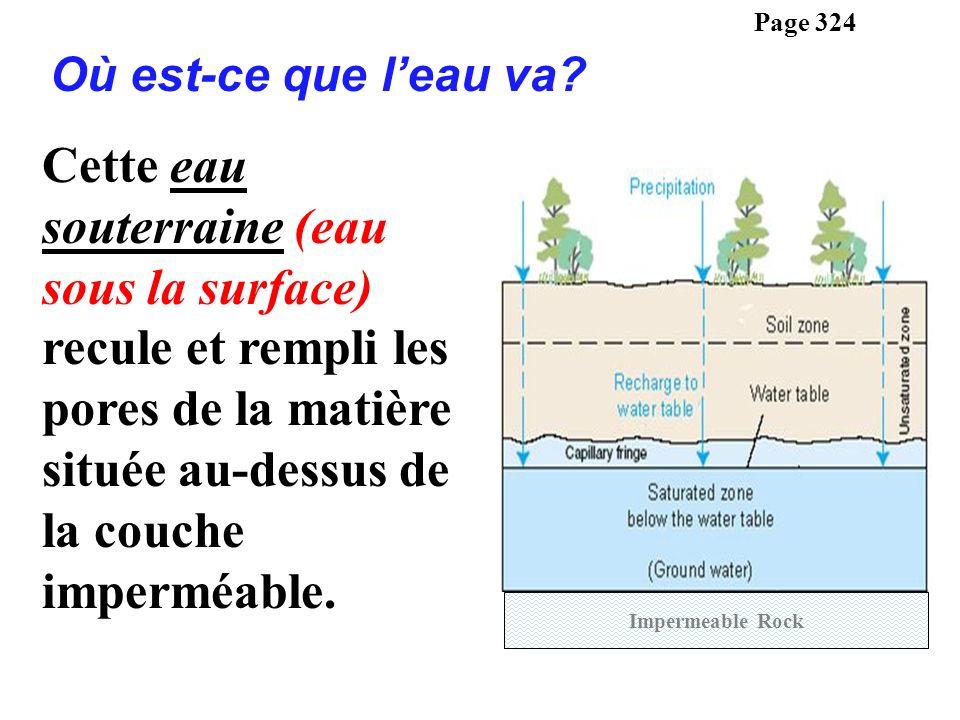 Page 324 Où est-ce que l'eau va