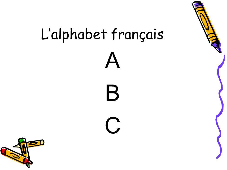L'alphabet français A B C