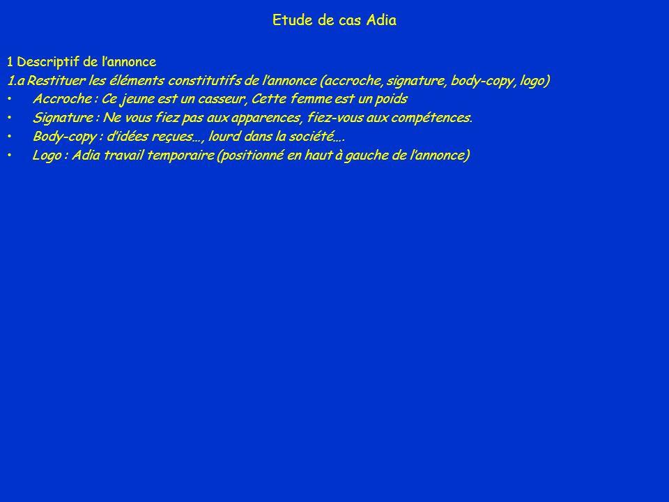 Etude de cas Adia 1 Descriptif de l'annonce