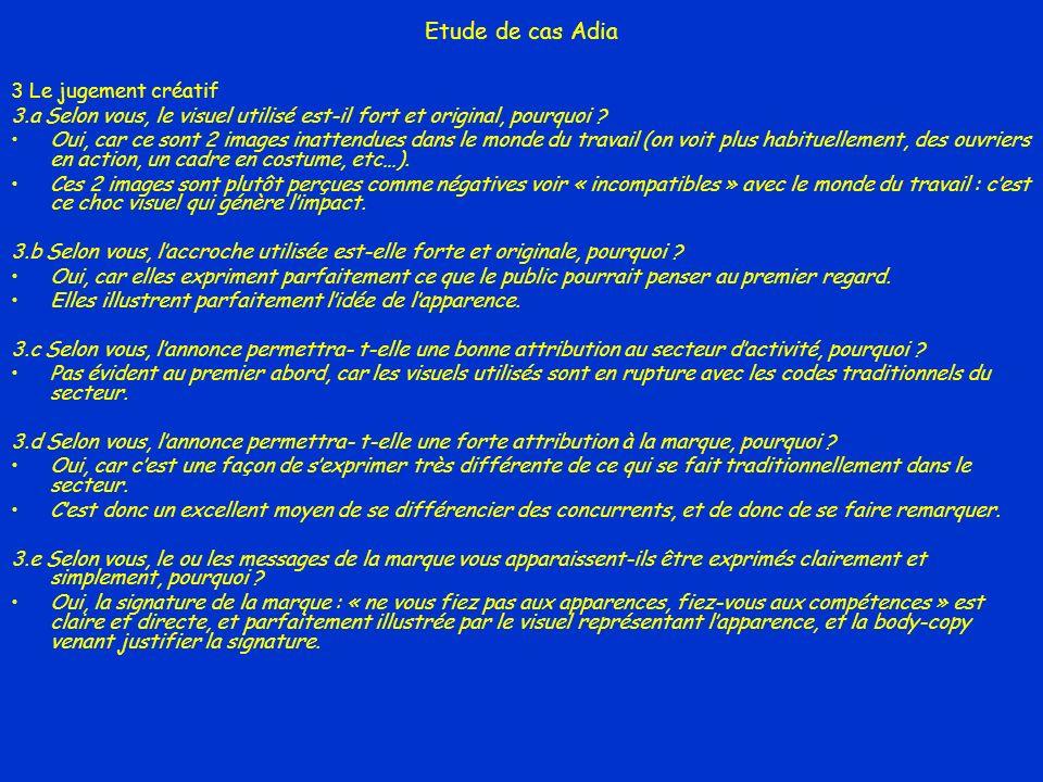 Etude de cas Adia 3 Le jugement créatif