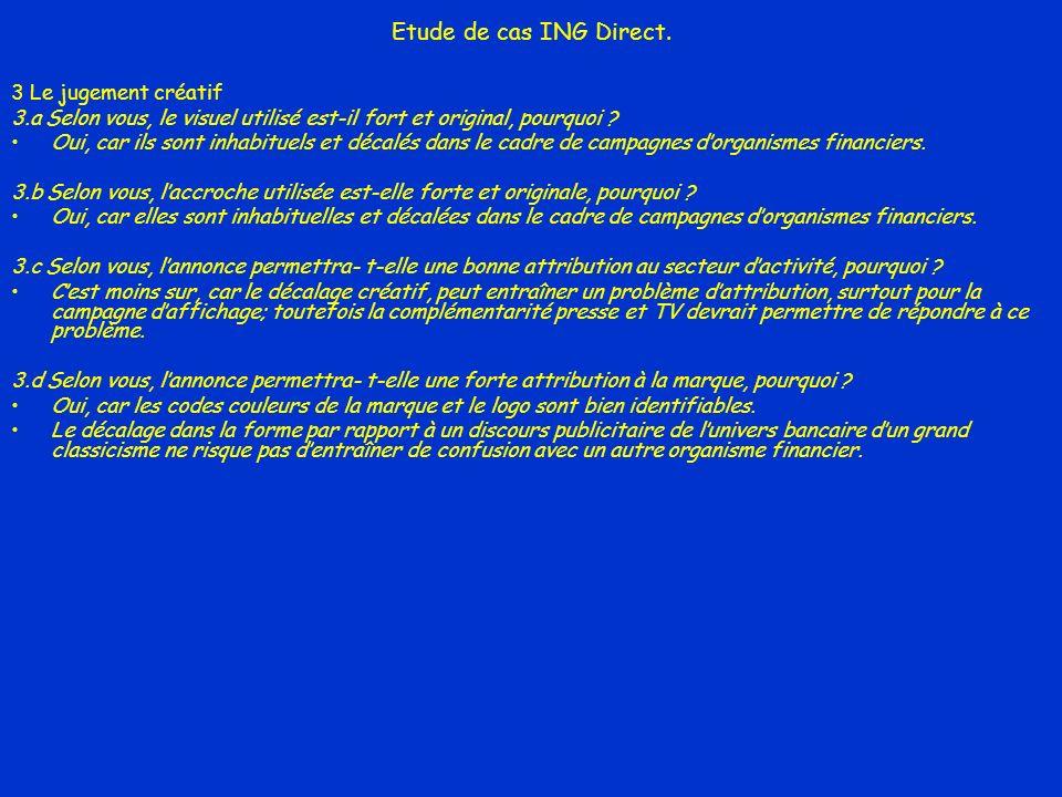 Etude de cas ING Direct. 3 Le jugement créatif