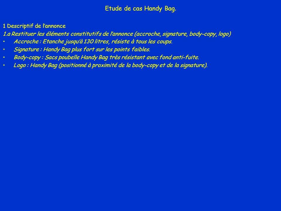 Etude de cas Handy Bag. 1 Descriptif de l'annonce