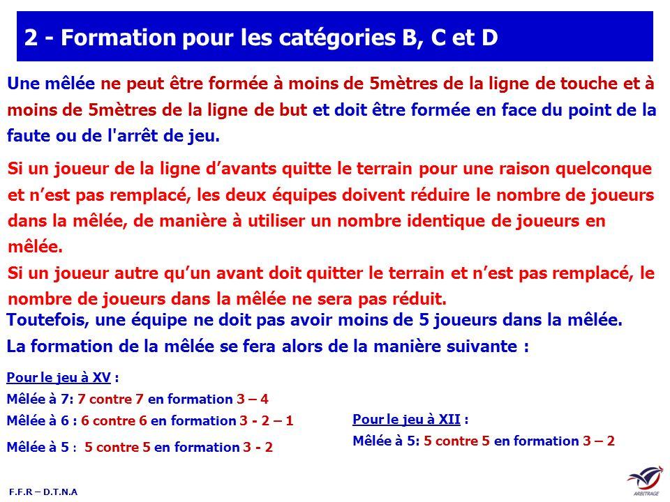 2 - Formation pour les catégories B, C et D