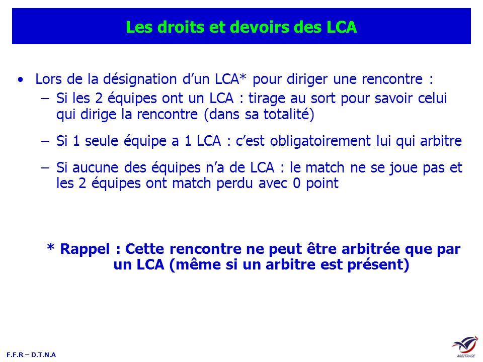 Les droits et devoirs des LCA