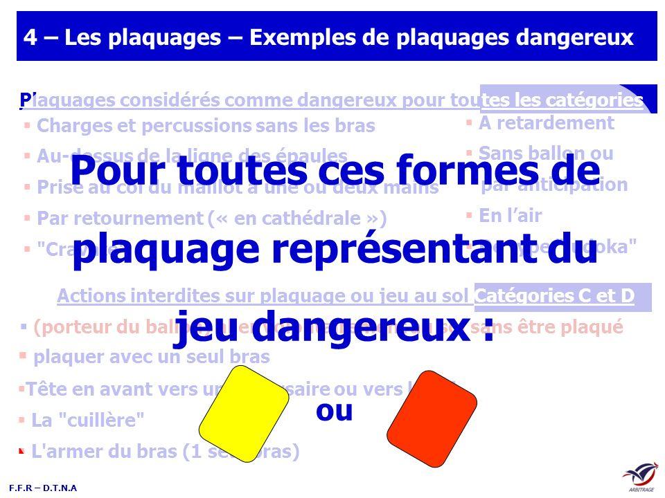 4 – Les plaquages – Exemples de plaquages dangereux