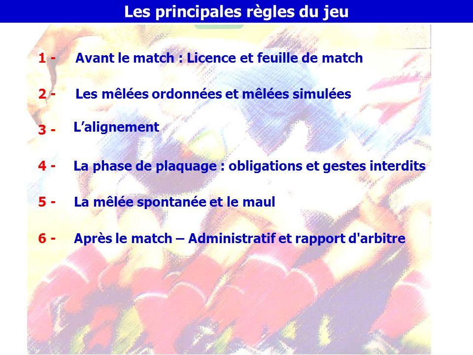 Les principales règles du jeu