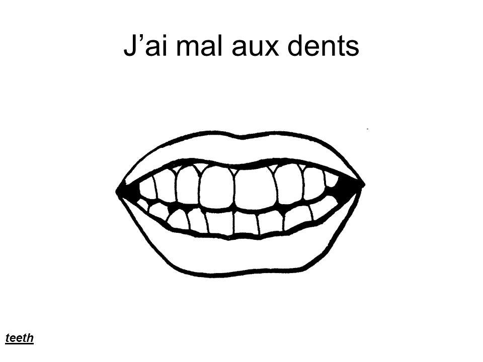 J'ai mal aux dents teeth