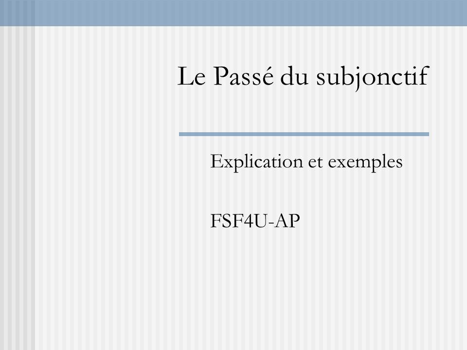Explication et exemples FSF4U-AP