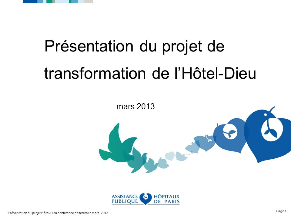 Présentation du projet de transformation de l'Hôtel-Dieu mars 2013