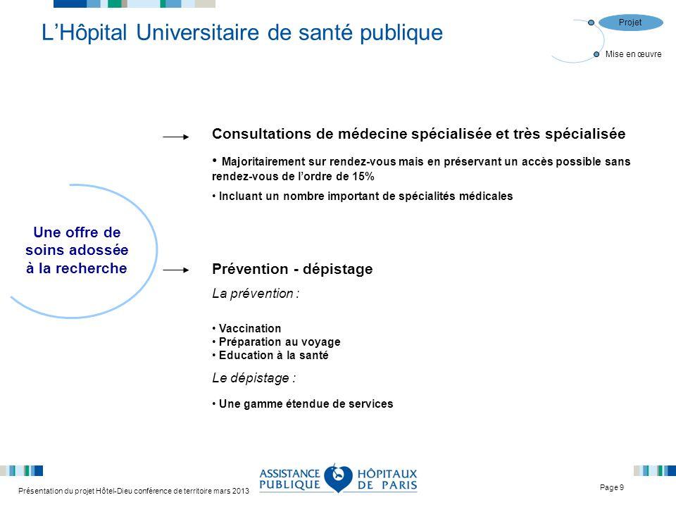 L'Hôpital Universitaire de santé publique