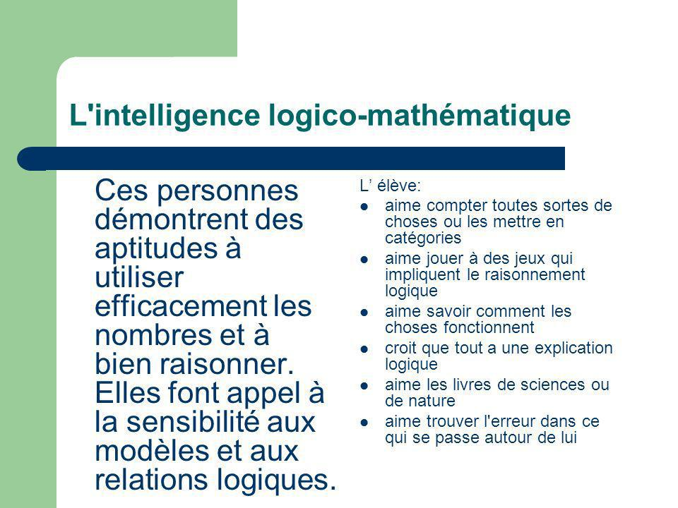 L intelligence logico-mathématique
