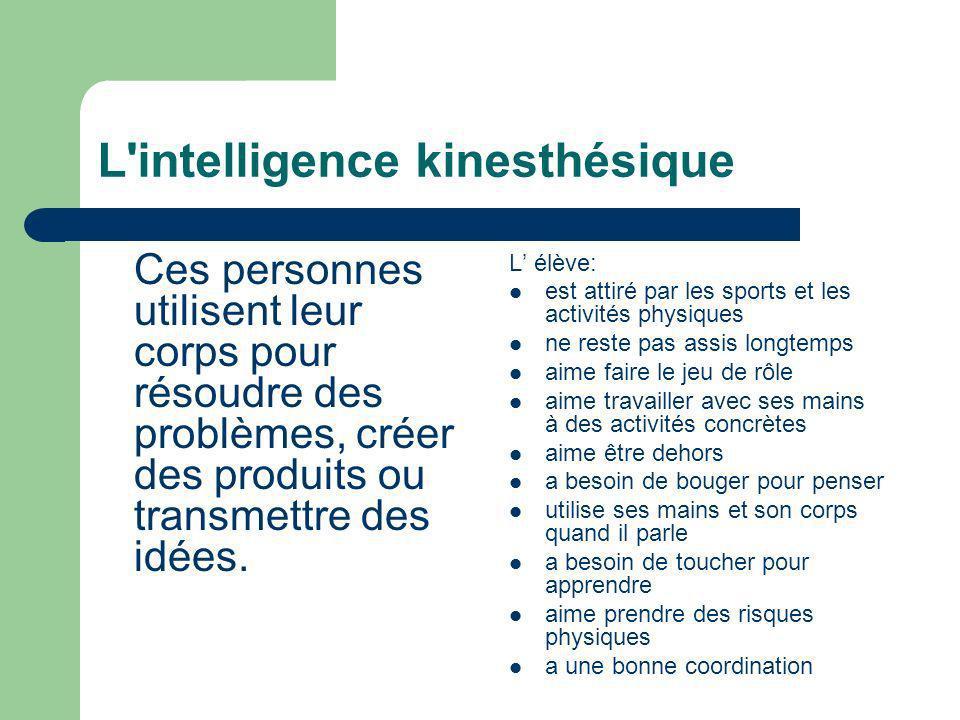 L intelligence kinesthésique
