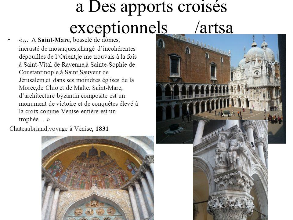 a Des apports croisés exceptionnels /artsa