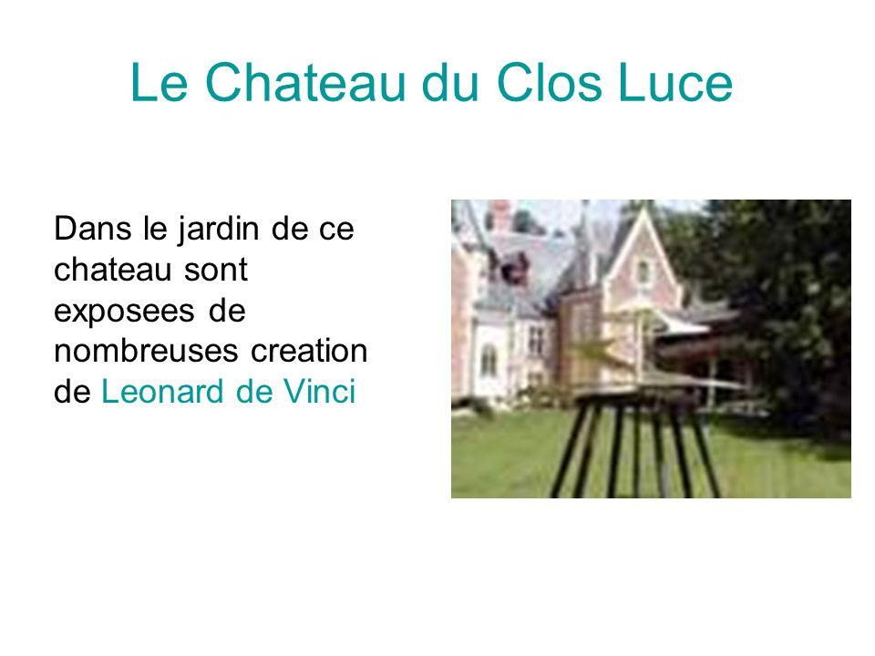 Le Chateau du Clos Luce Dans le jardin de ce chateau sont exposees de nombreuses creation de Leonard de Vinci.