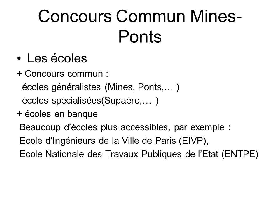 Concours Commun Mines-Ponts