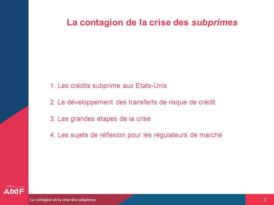 La contagion de la crise des subprimes
