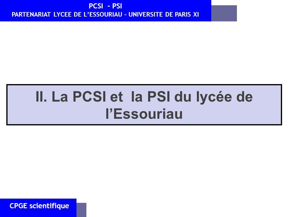 PARTENARIAT LYCEE DE L'ESSOURIAU – UNIVERSITE DE PARIS XI