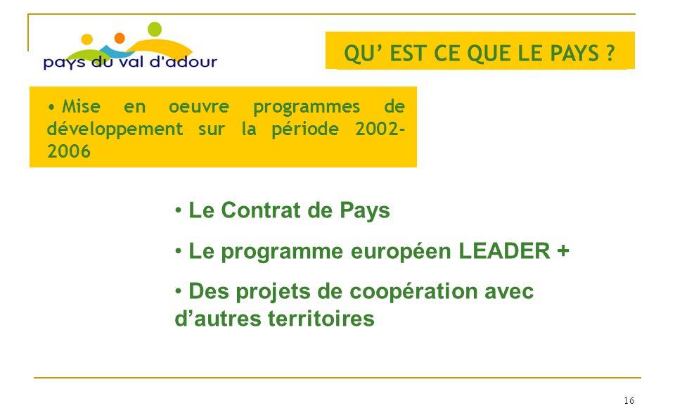 Le programme européen LEADER +
