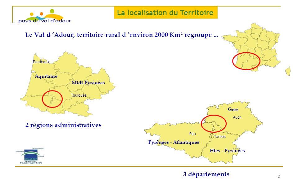 2 régions administratives Pyrénées - Atlantiques