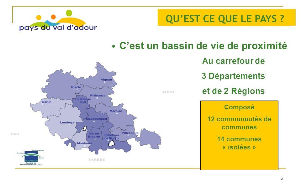 12 communautés de communes