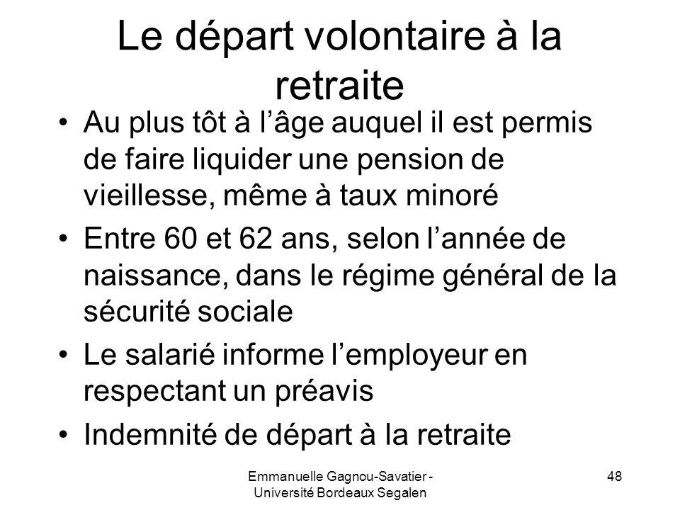 Le départ volontaire à la retraite